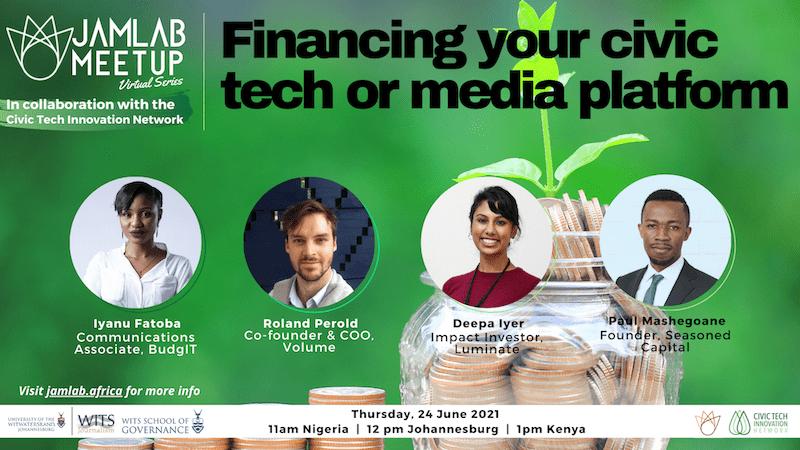 Financing your civic tech or media platform